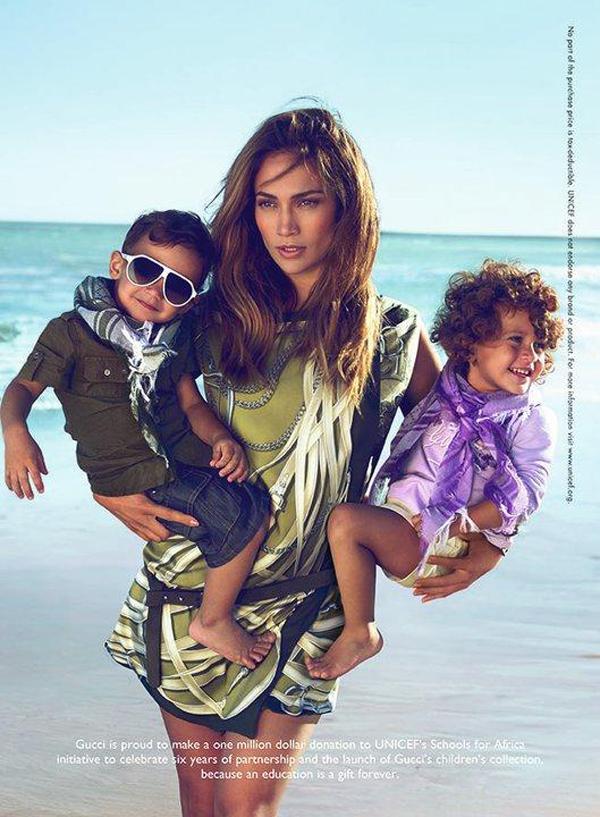 jennifer lopez twins gucci ads. Jennifer Lopez And Her Twins