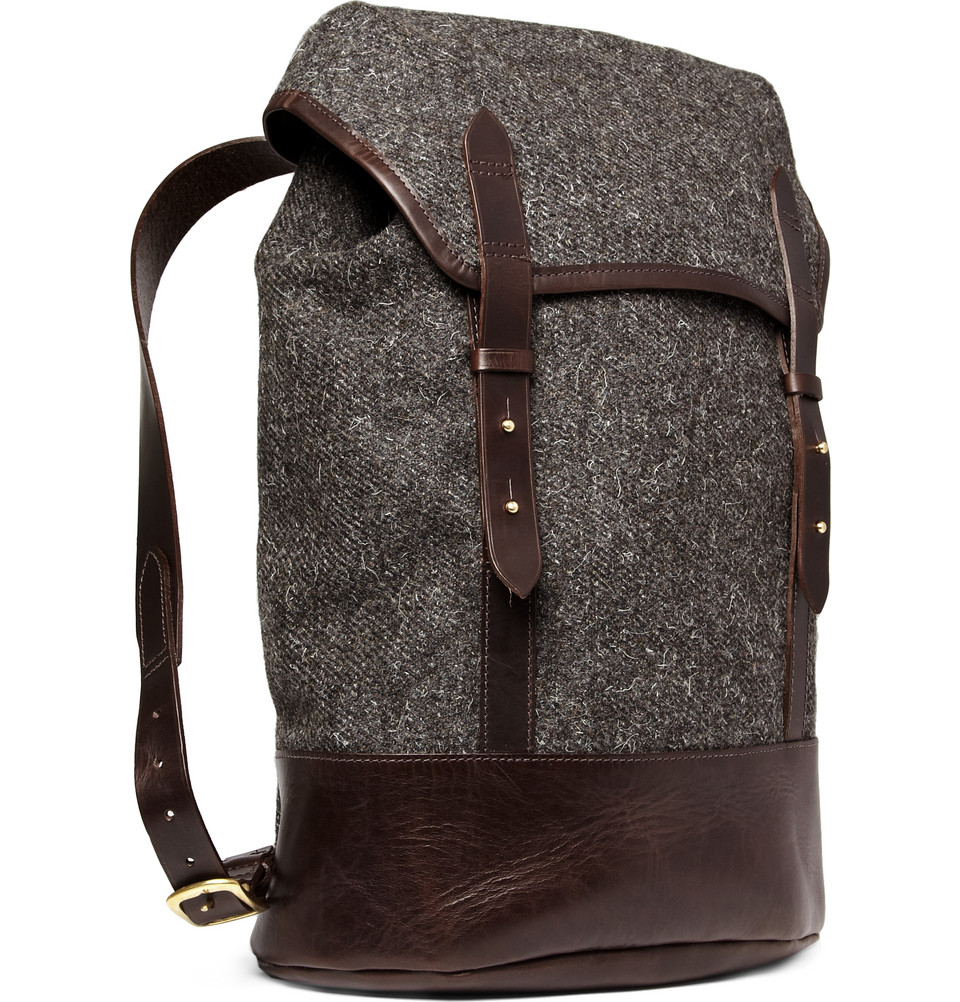 Stylish Leather Backpack - Crazy Backpacks