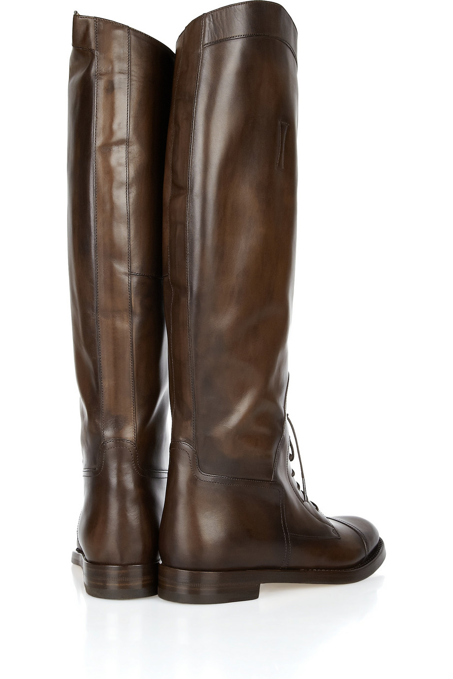 """GUCCI """"Lace-Up Leather Riding Boots"""" 