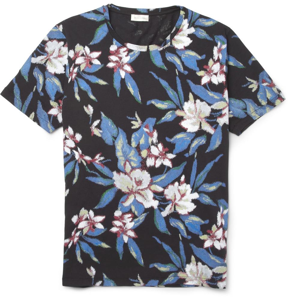 Balenciaga tropical print cotton t shirt the super for Lsu hawaiian print shirts