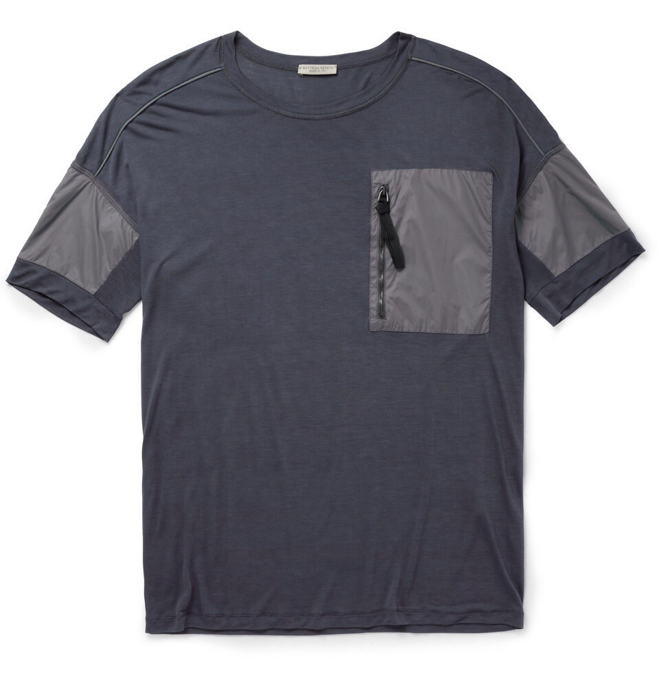 Bottega veneta zip pocket and fine jersey t shirt for Bottega veneta t shirt